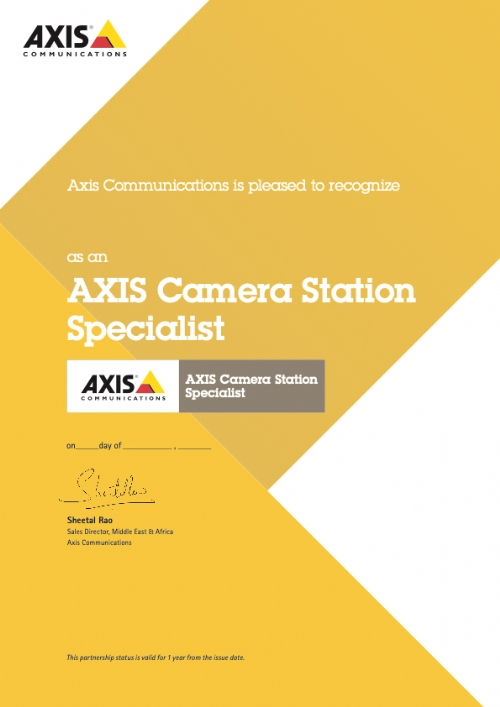 Axis Camera Station Specialist